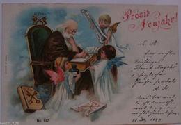 """Neujahr, Petrus, Engel, St. Peter""1899, Serie Nr.617♥   - Nouvel An"