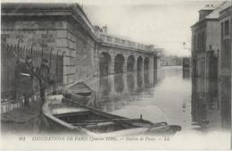 CPA 75 INONDATIONS DE PARIS (janvier 1910) - Station De Passy - Inondations De 1910