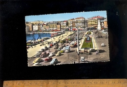 MARSEILLE : Le Quai Des Belges Et Les Jardins  1960 / Tub Citroen Triolley Bus Trolleybus Traction 2cv Bus - Marseille