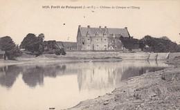 35. PAIMPONT. CPA. LA FORET. CHATEAU DE COMPER ET L'ETANG - Paimpont