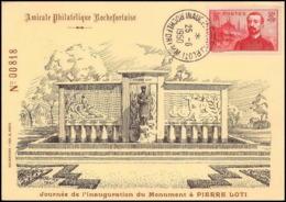 0085/ Carte Maximum (card) France N°353 Pierre Loti 25/6/1950 - Cartes-Maximum