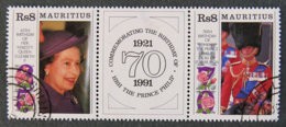ILE MAURICE - MAURITIUS - 1991 - YT 754 Et 755 + VIGNETTE ( TRYPTIQUE) - Mauritius (1968-...)