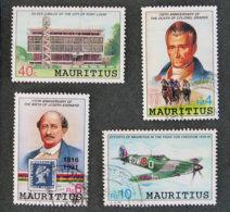 ILE MAURICE - MAURITIUS - 1991 - YT 756 à 759 - ANNIVERSAIRES ET EVENEMENTS - Mauritius (1968-...)