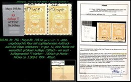 EARLY OTTOMAN SPECIALIZED FOR SPECIALIST, SEE...Mi. Nr. 750 - Mayo 100 An - Kopfstehender Aufdruck - Attest - 1920-21 Anatolie