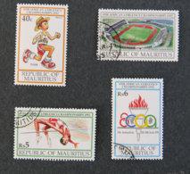 ILE MAURICE - MAURITIUS - 1992 - YT 777 à 780 - 8è CHAMPIONNATS D ATHLETISME AFRICAIN A PORT LOUIS - Mauritius (1968-...)