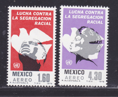 MEXIQUE AERIENS N°  485 & 486 ** MNH Neufs Sans Charnière, TB (D8782) Année De Lutte Contre L'apartheid - 1978 - Mexico
