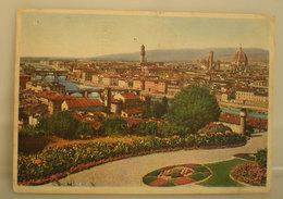 Firenze Panorama CARTOLINA 1939 Imperiale Con Targhetta Storia Postale - Firenze (Florence)