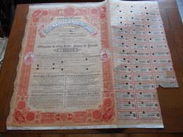 "Obligation De 500F ""Cie Du Chemin De Fer Sao Paulo Et Rio Grande""Paris 1905.Rio De Janeiro Brésil Brazil N°105,872 - Spoorwegen En Trams"
