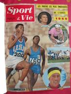 Reliure Recueil Mensuel Sport & Vie. 1961. 12 N° : 56 à 67. Tour De France Anquetil. Boxe Rugby Football Tennis - Sport