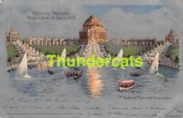 CPA OFFICIAL SOUVENIR WORLDS FAIR ST LOUIS 1904 FESTIVAL HALL AND CASCADES - Expositions