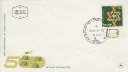 Enveloppe  FDC  1er  Jour    ISRAËL    Cinquantenaire  Du   SCOUTISME   JUIF   1968 - FDC