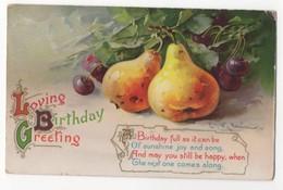 C Klein Loving Birthday Greetings Pears & Grapes 2250 Wildt & Kray 1912 Art Postcard - Klein, Catharina