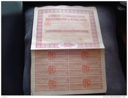 """Action""""L'union Commerciale Indochinoise Et Africaine""""Paris 1933 Avec Tous Les Coupons.N°127,680 Tres Bon état - Afrique"""