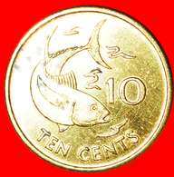 + GREAT BRITAIN: SEYCHELLES ★ 10 CENTS 1997PM FISH MINT LUSTER! LOW START ★ NO RESERVE! - Seychelles
