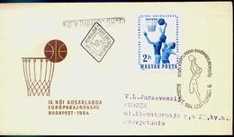 Basket-Ball - Championnat D' Europe  FDC + Cachet Special Hongrie 1964 - Basketball