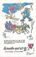 LA  VACHE QUI  RIT -  - BUVARD  ( Format = 13,5cm X 21cm ) - Illustrateur = Hervé Baille - Transport