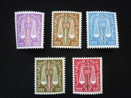 ALGERIA, 1963 Scales Scott #J54-J58 CV 4,55$ MNH - Algeria (1962-...)