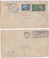 """Haiti 1929 Air Mail Cover From Port AU Price To U.S.A. Back Stamped  """"payment Request"""" By """"invoice"""" - Haiti"""