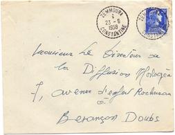 Algerie Muller Zemmoura Constantine Pour Besancon - Marcophilie (Lettres)