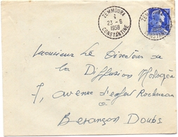 Algerie Muller Zemmoura Constantine Pour Besancon - Poststempel (Briefe)