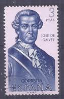 España-Spain. Jose De Galvez (o) - Ed 1532, Yv=1532, Sc=1195, Mi=1424 - 1961-70 Usados