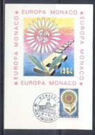 1483 Monaco Carte Maximum (card) EUROPA 1964 - Cartes-Maximum (CM)