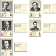 1500/ Carte Maximum (card) France N°1248/1252 Héros De La Résistance 1960 - Cartes-Maximum