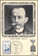 1515/ Carte Maximum (card) France N°1251 Héros De La Résistance Léonce Vieljeux - Cartes-Maximum