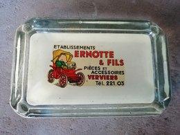 VERVIERS Ets ERNOTTE Accessoires Pour Auto Superbe Cendrier Vers 1950 - Verre
