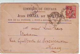 54. PONT A MOUSSON . COMMERCE DE CHEVAUX . RUE DE LA POTERNE Jules ISRAEL Dit MORTIER - Pont A Mousson