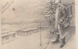 Noël Souhaits Sincères Pour 1916 Père Noël Kriegsgefangener - Christmas