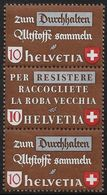 Schweiz Suisse 1942: Altstoff-Zusammendruck Se-tenant : Zu Z38b Mi SZd.8 ** Postfrisch MNH (Zu CHF 29.00) - Se-Tenant