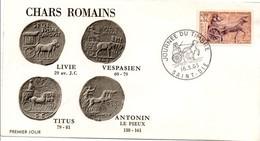 Saint-Dié Vosges 1963 - Journée Du Timbre - Char Cavalier Cheval Pferd Horse - Enveloppe - FDC