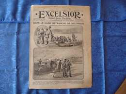 L'EXCELSIOR De 1916 N° 1877 - A La Une : DANS LE CAMP RETRANCHE DE SALONIQUE - Journaux - Quotidiens