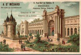 CHROMO  A SAINT-MEDARD PARAPLUIES CANNES OMBRELLES BRUGES  EXPOSITION DE 1889 MINISTERE DE LA GUERRE - Trade Cards