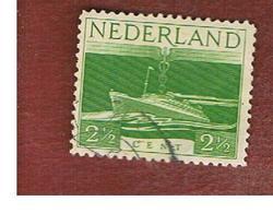 "OLANDA (NETHERLANDS) -  SG 596  -   1944 SHIPS: STEAMER ""NEW AMSTERDAM""  -  USED (°) - Usati"