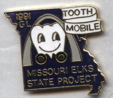 Pin's Santé Médical Dent Dentiste Tooth Missouri Etats-Unis - Medical
