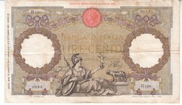 3984  ITALI 100   CENTO   LIRE - [ 1] …-1946 : Kingdom