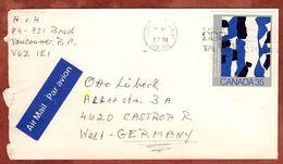 Luftpost, EF Borduas, Vancouver Nach Castrop-Rauxel 1981 (71554) - 1952-.... Règne D'Elizabeth II