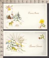 97180/ NOUVEL AN, 2 Mignonettes, Biches - Nouvel An