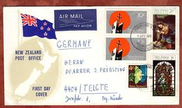 Luftpost, FDC, Weihnachten, Auckland Nach Telgte 1970 (71557) - FDC