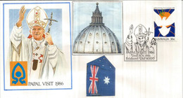 Jean-Paul II. Visite A Brisbane,  Queensland  (Australie) 25 Novembre 1986 - Cristianesimo