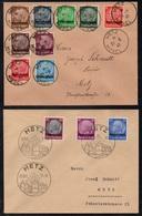 METZ - MOSELLE / 1940 SERIE COMPLETE # 24 A 39 OBLITEREE SUR 4 ENVELOPPES / 2 IMAGES / COTE +35 € (ref 7894) - Alsace-Lorraine