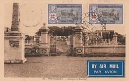 LOT 4 ETS FRANCAID DANS L'INDE N° 196-197 Oblitérés Sur Carte Postale - Inde (1892-1954)