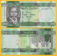 South Sudan 1 Pound P-5 2011 UNC - South Sudan