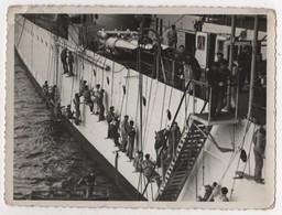 Photo Originale Marine Bateau Travaux Tampon Emery Spécialité De Navires De Guerre Toulon - Boats