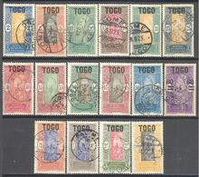 Togo: Yvert N° 101/118°; Sauf 101 Et 103 - Togo (1914-1960)