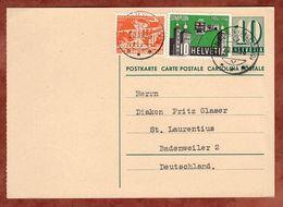 P 197 II Ziffer + ZF, Zunzgen Nach Badenweiler 1956 (71560) - Enteros Postales