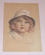 Carte Postale Fantaisie - Enfant Au Chapeau Par Le Peintre Vincent ANGLADE - Dessins D'enfants