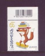 Austria 2010 - Europa Unita, Fridolin La Volpe Postina, 1v MNH** - 2001-10 Unused Stamps